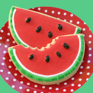 Watermelon Shaped Cookies - KidTrail Recipe