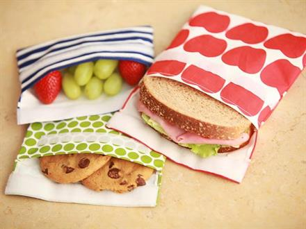Fabric Lunch Baggies - KidTrail Cool Find