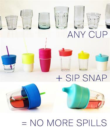 Turn Any Cup Into A Sippy Cup - KidTrail Cool Find